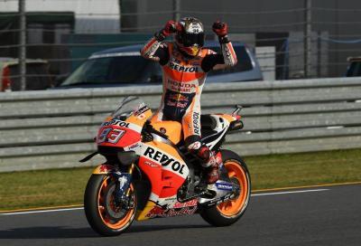 Rossi e Lorenzo out: a Motegi Marquez vince gara e titolo mondiale