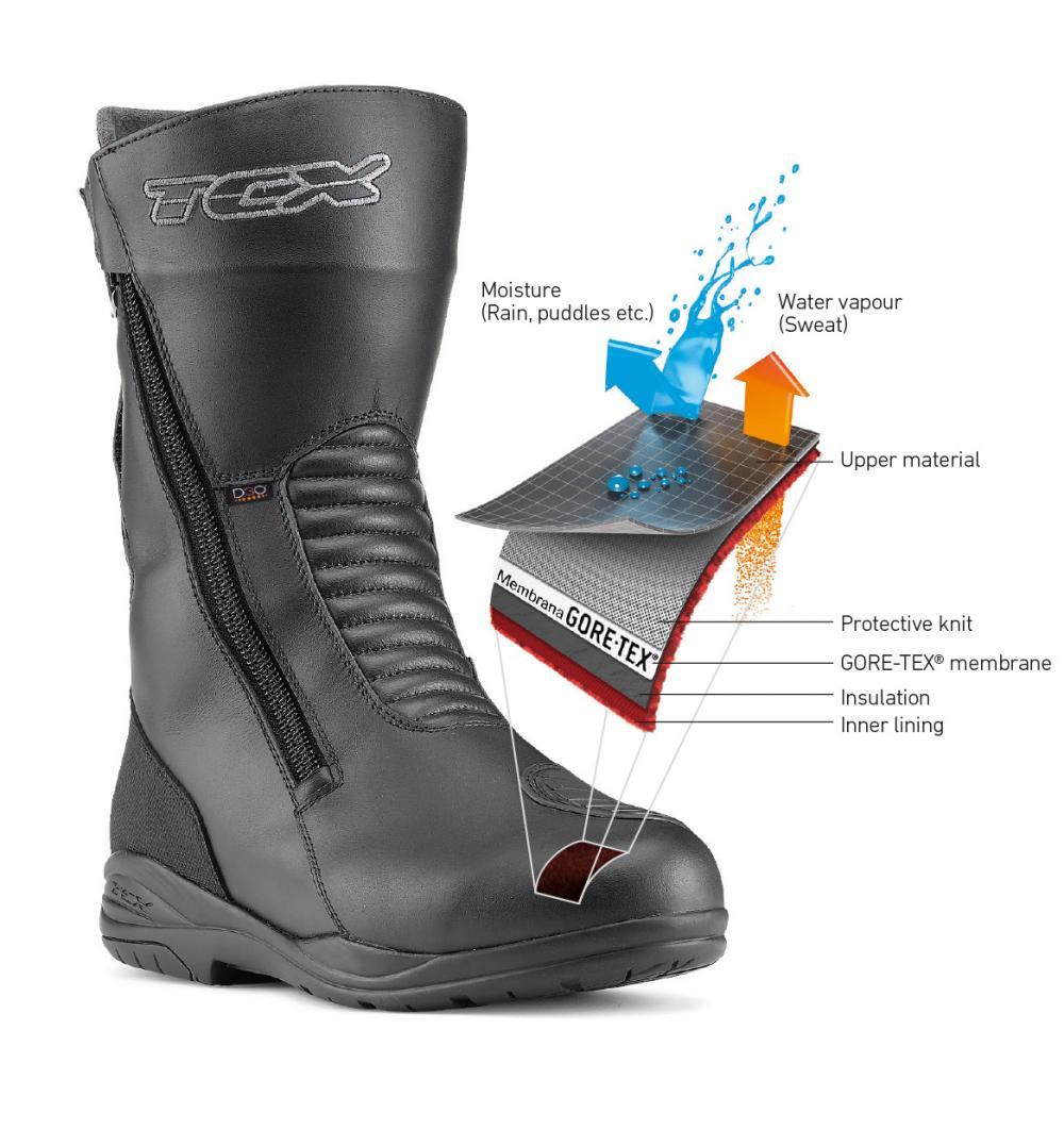 outlet in vendita 50-70% di sconto varietà di design Prova stivali da moto TCX X-Tour Evo Gore-Tex: impermeabili ...