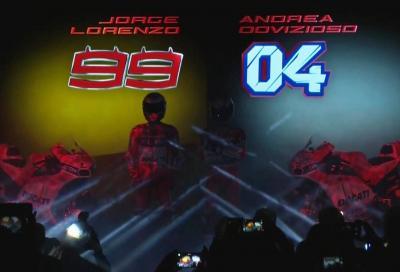 Rivivi la presentazione della Ducati 2017 di Lorenzo e Dovizioso