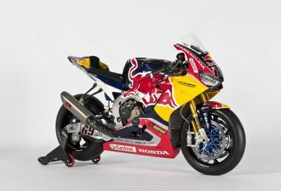 SBK 2017: la livrea Red Bull delle Honda ufficiali di Hayden e Bradl