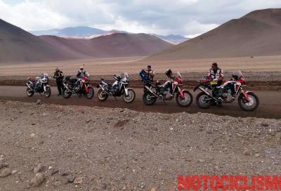 Motociclismo in Cile a caccia di record con l'Africa Twin