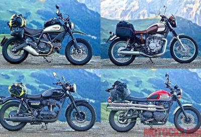 """""""Classiche"""" a confronto sulle Alpi: Ducati, Kawasaki, Mash, Triumph"""