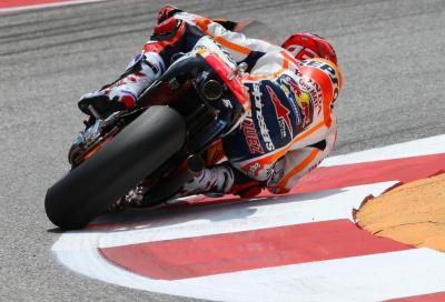 """Marquez """"addomestica"""" le Yamaha: quinta pole di fila ad Austin"""