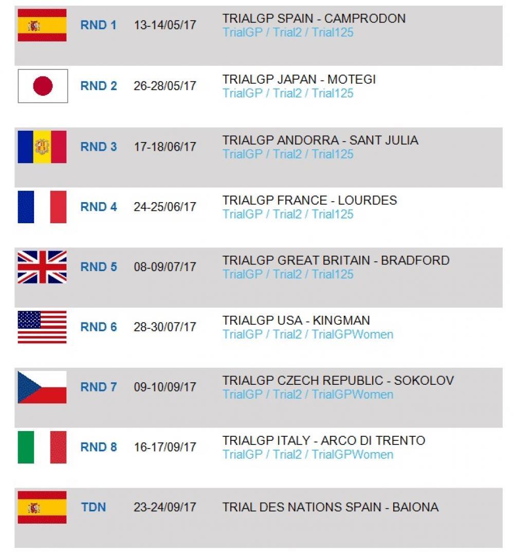Mondiale Calendario.Mondiale Trial Outdoor 2017 Calendario Novita Per Gare E