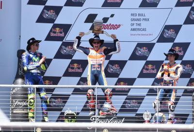 Per Marquez 5° trionfo ad Austin, Rossi leader del Mondiale