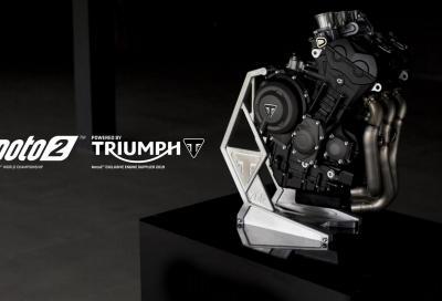 Motore unico Triumph tre cilindri 765 cc per il Mondiale Moto2 dal 2019