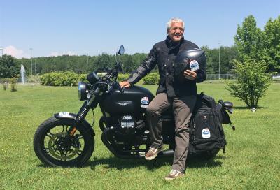 Moto Guzzi e Riso Scotti sulla via della seta e del riso