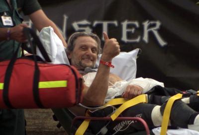 """Fogarty in ospedale per una caduta con il Flat Track: """"basta corse!"""""""