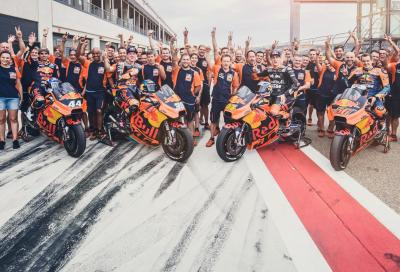 Test KTM MotoGP in Aragona: prima Alcaniz, poi in vacanza!