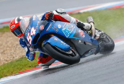 Pasini regola tutti in Moto2. Morbidelli in prima fila
