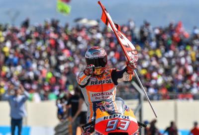 Marquez perfetto ad Alcañiz: ora comanda il Mondiale. Rossi 5°