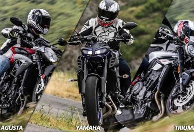 Naked medie 2017: sfida tra moto a 3 cilindri