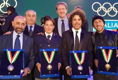 Cairoli, Morbidelli e Fontanesi premiati con il Collare d'Oro del CONI