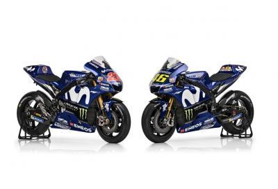 La nuova Yamaha M1 di Valentino Rossi e Maverick Viñales