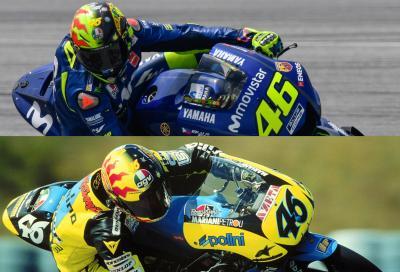 """Rossi a Sepang con il casco """"SoleLuna"""""""