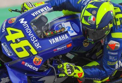 Nuova livrea per il casco di Valentino Rossi