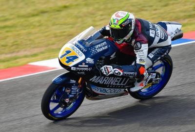 Italiani alla riscossa in Moto3: prima pole di Arbolino, 2° Bezzecchi