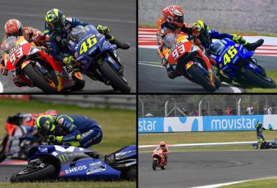 Rossi vs Marquez: la sequenza di foto dell'incidente