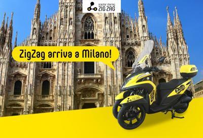 Lo scooter sharing Zig Zag arriva a Milano