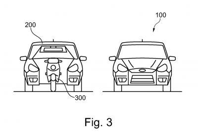 Ford brevetta l'auto con lo scooter all'interno