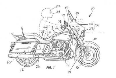 Harley brevetta il dispositivo di frenata automatica d'emergenza