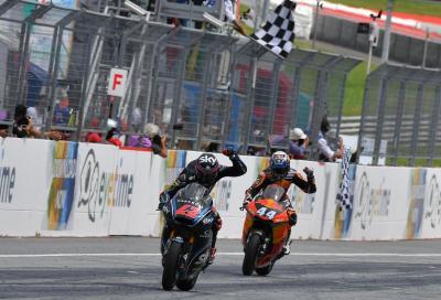 Bagnaia passa Oliveira all'ultima curva e vince al Red Bull Ring