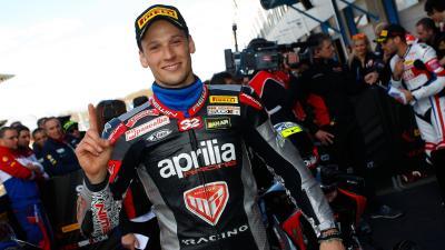 In moto con Lorenzo Savadori alla tappa MotoGP di Misano