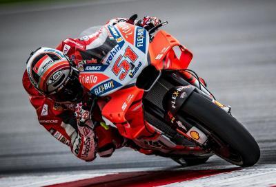 Michele Pirro in gara con la terza Ducati a Misano
