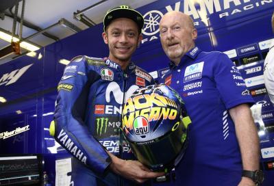 """""""Back to Misano"""" il nuovo casco di Rossi"""