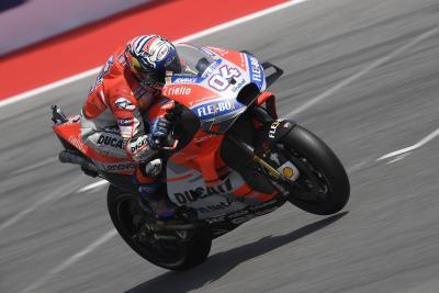 FP1 Aragon: Dovizioso comanda il plotone Ducati