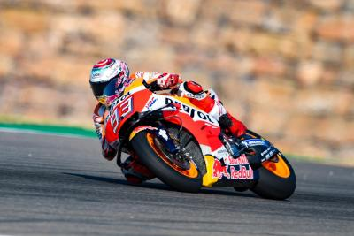 Marquez comanda le FP2 ad Aragon, seguono le Ducati