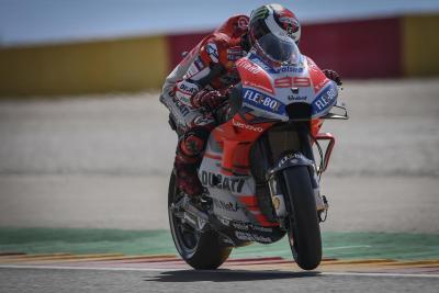 Ducati velocissima ad Aragon: pole di Lorenzo, 2° Dovi