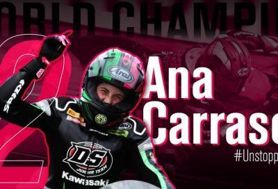 """Ana Carrasco tinge di """"rosa indelebile"""" il motociclismo"""