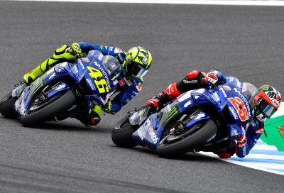 Rossi prudente a Motegi. Viñales conferma il passo avanti