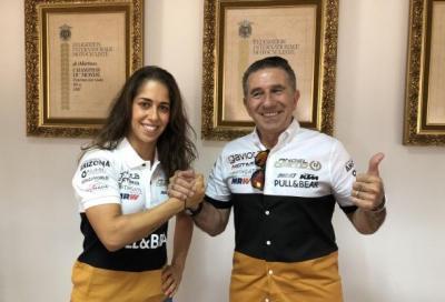 Maria Herrera in MotoE con l'Angel Nieto Team