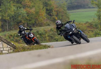 KTM 790 Duke vs Yamaha Niken: il video della sfida