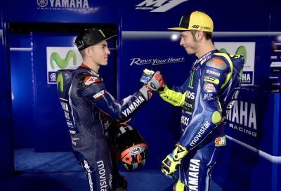 Sensazioni diverse in Yamaha: Rossi preoccupato, Viñales ottimista