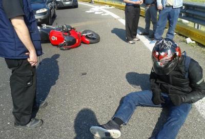 Vittime in calo grazie al guard rail salva motociclisti