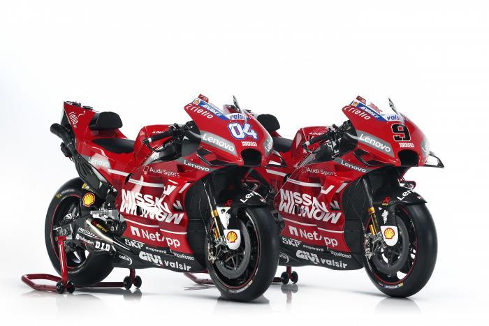 La Ducati Desmosedici GP 2019 di Dovizioso e Petrucci