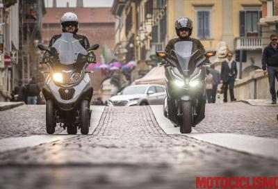 Meglio due o tre ruote? Honda Forza 300 vs Piaggio MP3 350