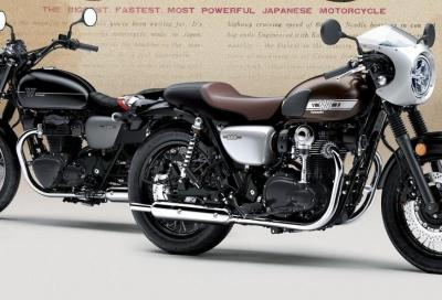Kawasaki W800 Street e W800 CAFE 2019: il video
