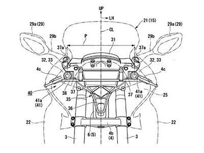 Honda studia telecamere stereoscopiche di sicurezza per la Gold Wing