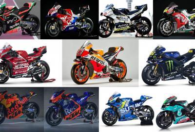 MotoGP 2019: line up e foto di tutti i prototipi