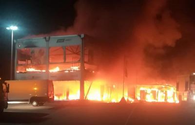 Un incendio distrugge tutte le MotoE, a rischio l'avvio del Campionato