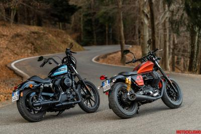 Moto Guzzi V9 Bobber Sport vs Harley-Davidson Sportster 1200 Iron