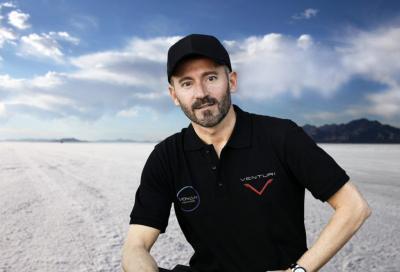 Max Biaggi a caccia del record di velocità con una moto elettrica