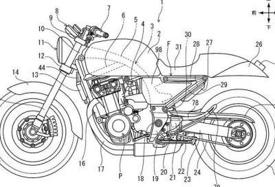 Nuovo brevetto Honda, è la futura CB400?