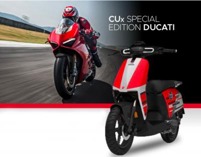 SuperSoco CUx Ducati Special Edition, lo scooter elettrico con livrea MotoGP