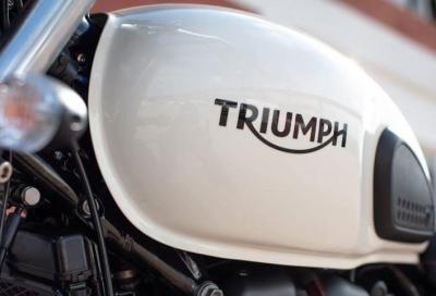 Triumph lancia il progetto TE-1 per lo sviluppo di moto elettriche