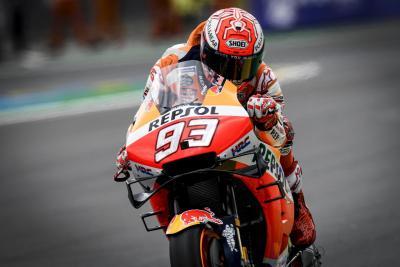 La pioggia non ferma Marquez a Le Mans